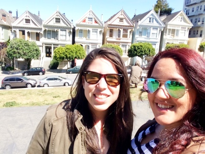 Painted ladies in front of the Painted Ladies ;)