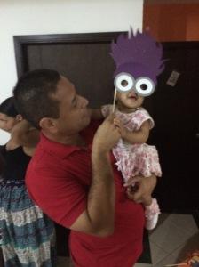Babies love props!