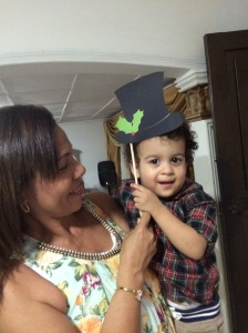 My gorgeous bundle of joy and excitement nephew rocking my props