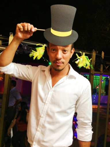 Mr. Jhonas in a top hat