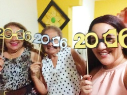 My mommy, grandma and I with my custom 2016 glasses