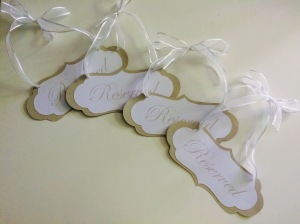 Down to the thickness and style of the ribbon, these were exactly to the bride's standards!