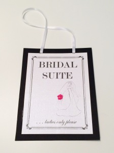 A bridal sign to keep male guests/friends from entering the bride's quarters without permission!
