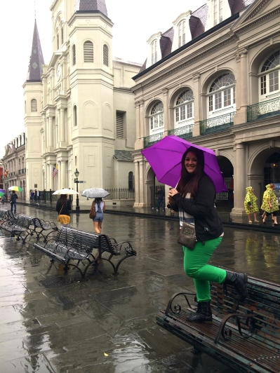 Barney lost in the middle of Jackson Square