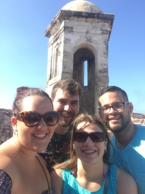 The crew at Castillo San Felipe