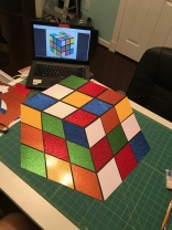 Voila! Glittery Rubik's Cube Prop ready to pop!
