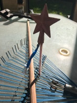 This is where I get creative... How I got the straw to stand for the star to dry