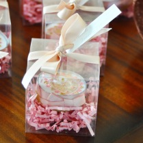 Our favors wrapped and ready