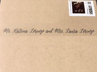 M&B Wedding Envelope